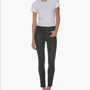 Paige Denim Faux Leather Ankle Skinny Jeans